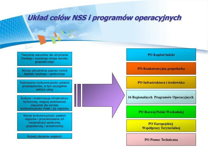 Ukad celw NSS i programw operacyjnych