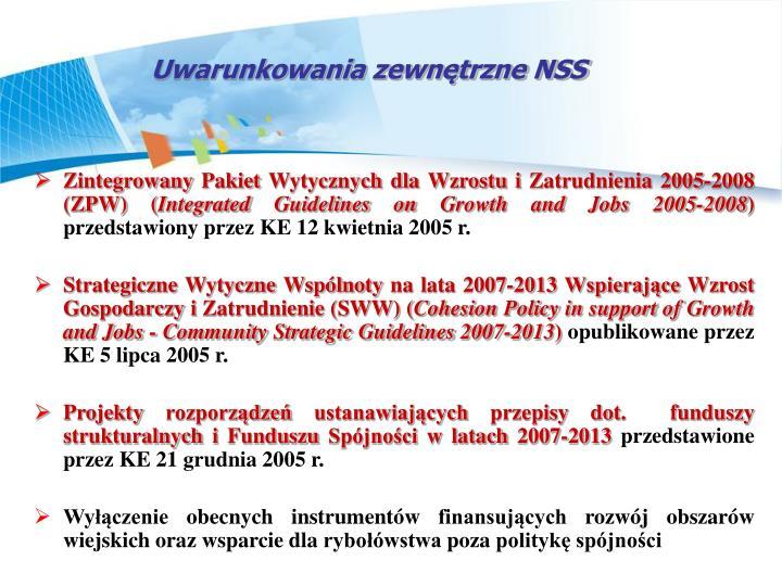 Uwarunkowania zewntrzne NSS