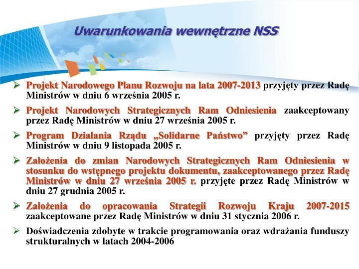 Uwarunkowania wewntrzne NSS