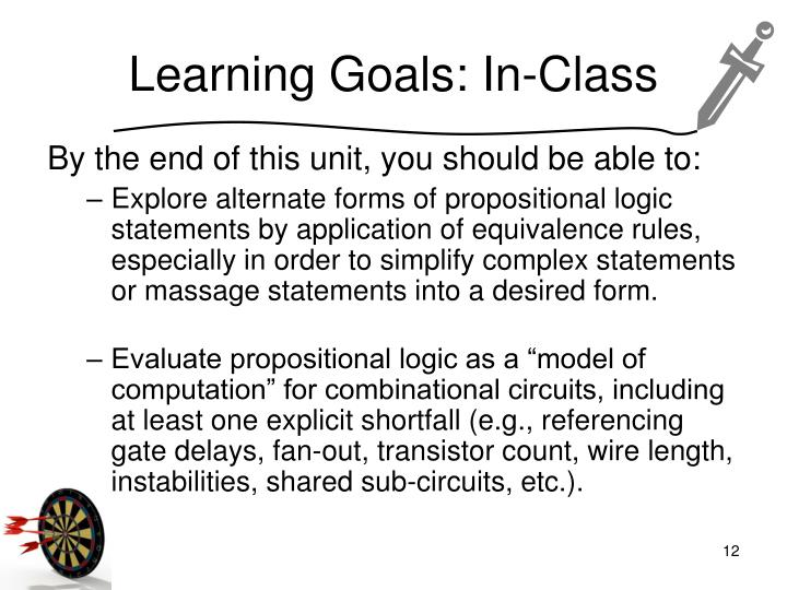 Learning Goals: In-Class
