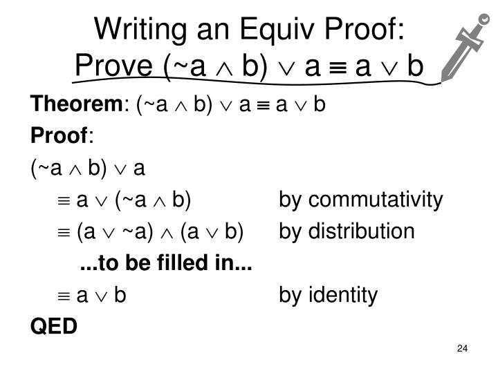 Writing an Equiv Proof: