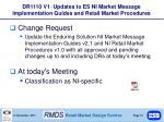 dr1110 v1 updates to es ni market message implementation guides and retail market procedures