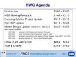 hwg agenda