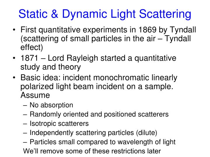Static dynamic light scattering