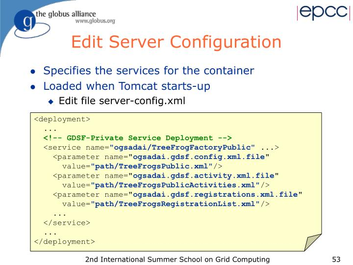 Edit Server Configuration