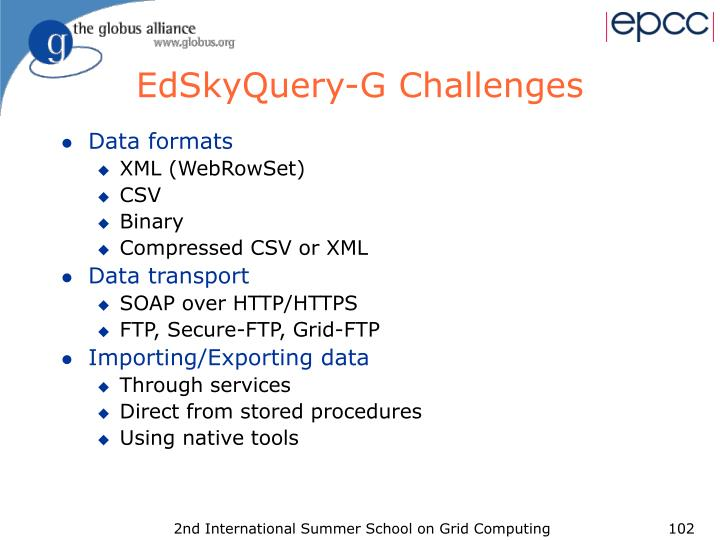 EdSkyQuery-G Challenges