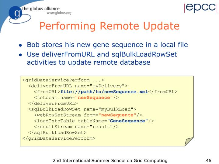 Performing Remote Update