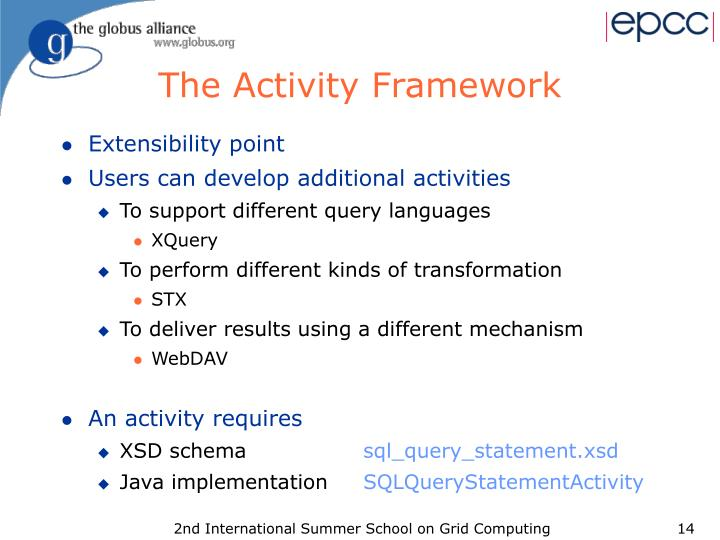 The Activity Framework