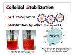 c olloidal s tabilization