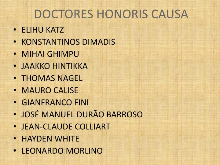 DOCTORES HONORIS CAUSA