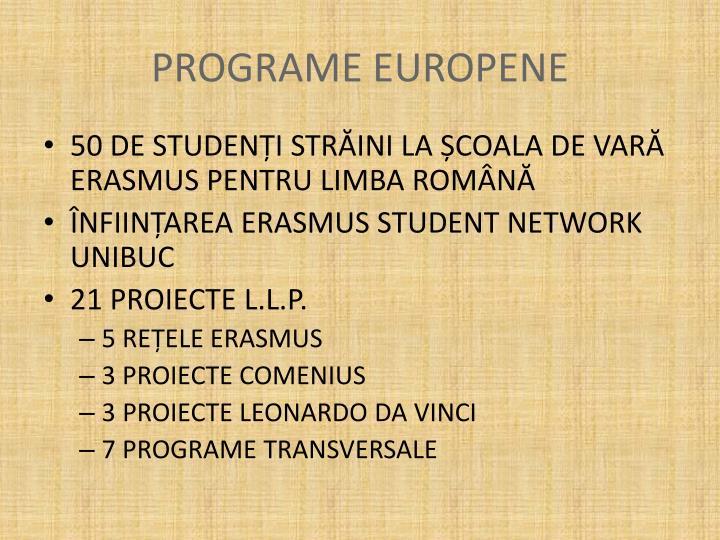 PROGRAME EUROPENE