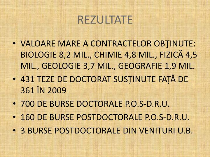 REZULTATE