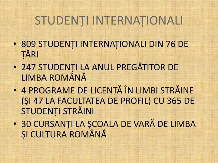 STUDENȚI INTERNAȚIONALI