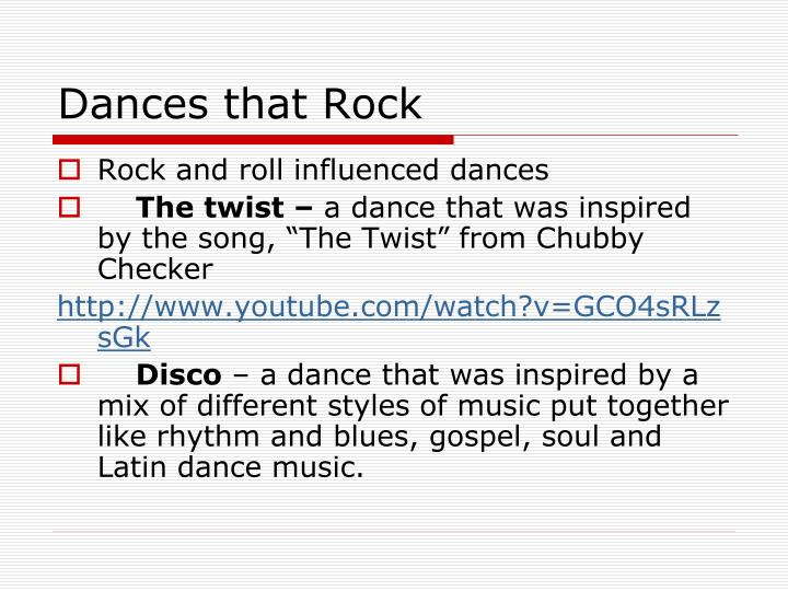 Dances that Rock