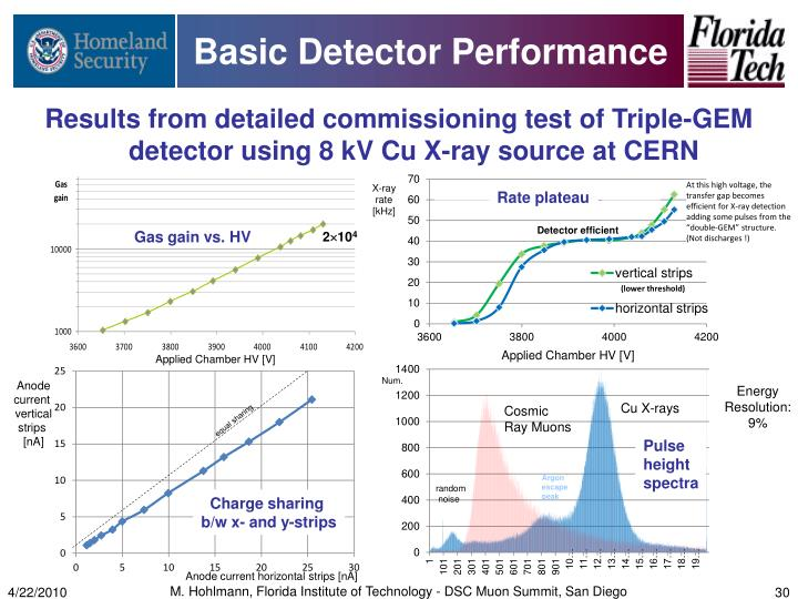 Basic Detector Performance