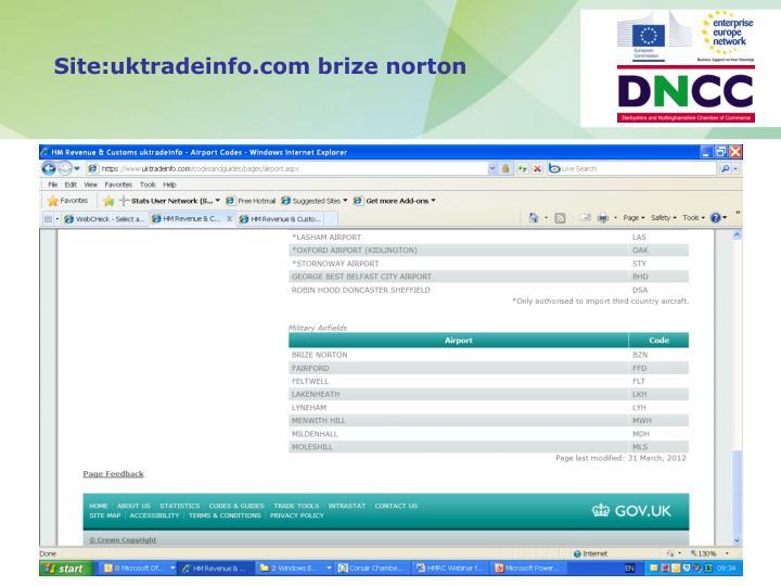 Site:uktradeinfo.com brize norton
