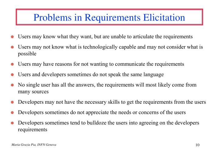 Problems in Requirements Elicitation