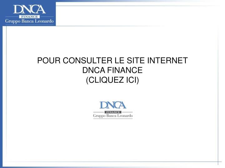 POUR CONSULTER LE SITE INTERNET