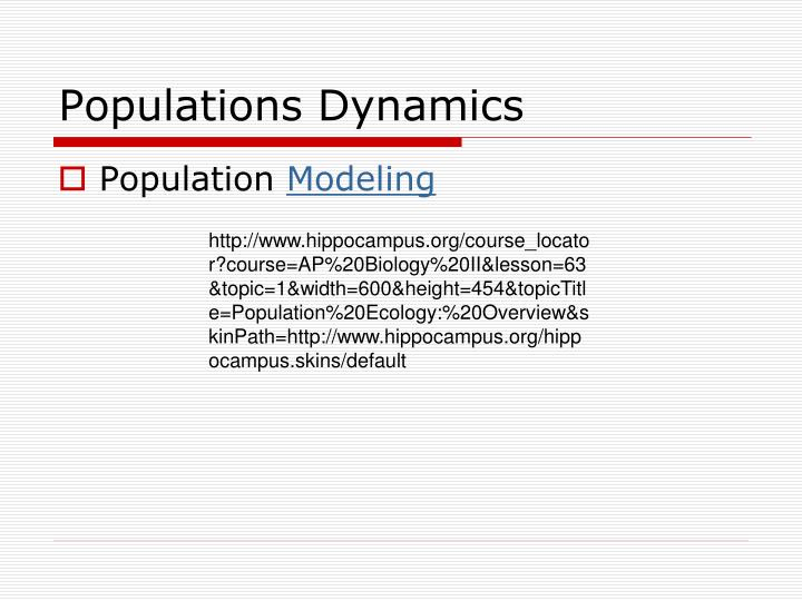 Populations Dynamics