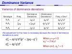 dominance variance