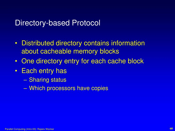 Directory-based Protocol
