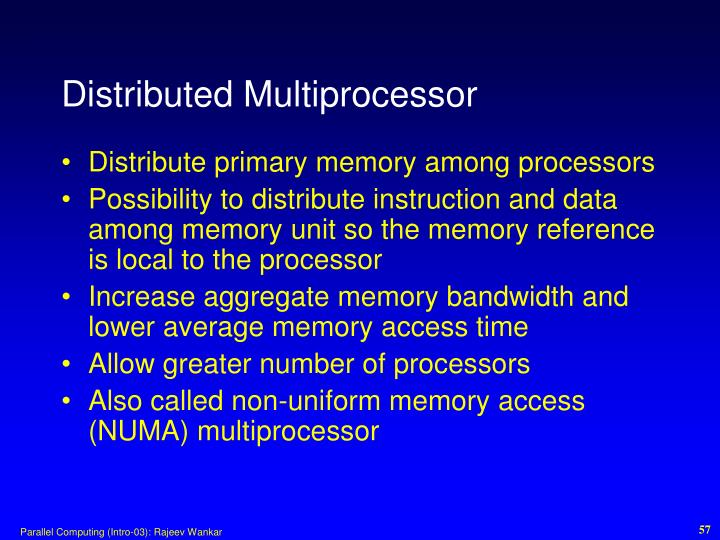 Distributed Multiprocessor