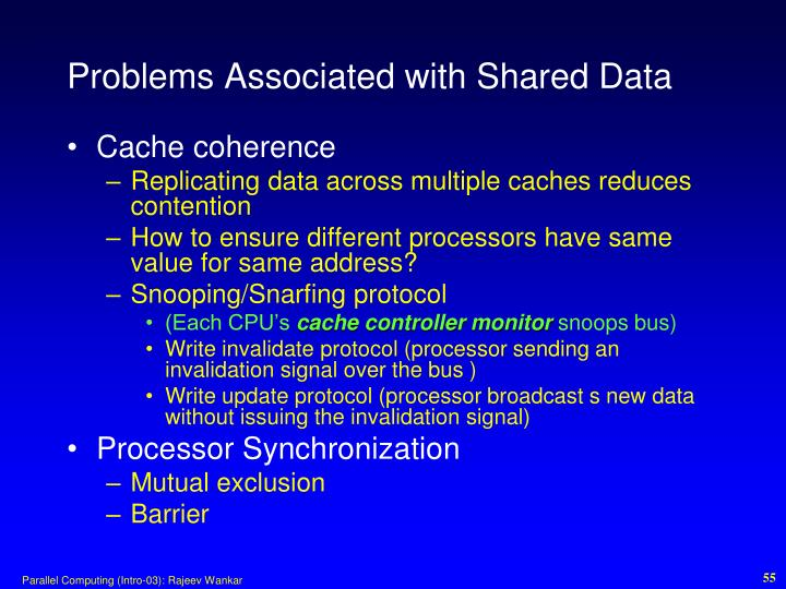 Problems Associated with Shared Data