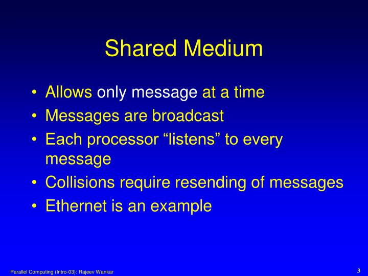 Shared Medium