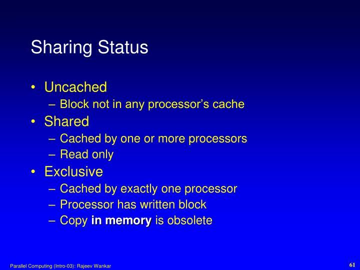 Sharing Status