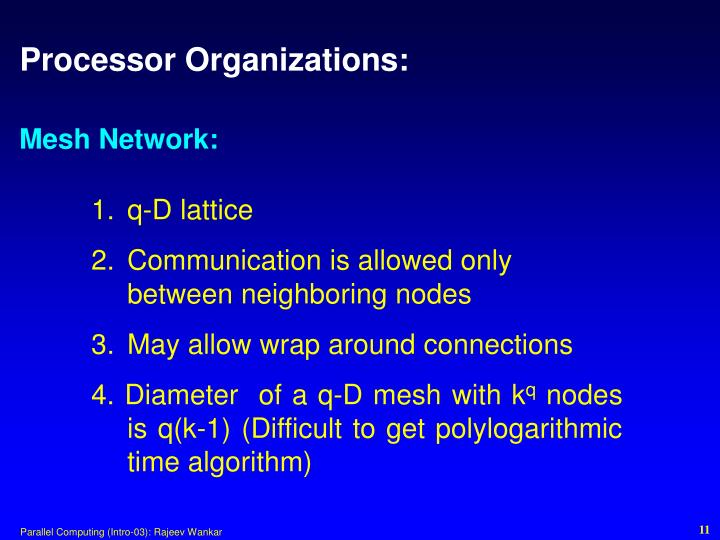 Processor Organizations: