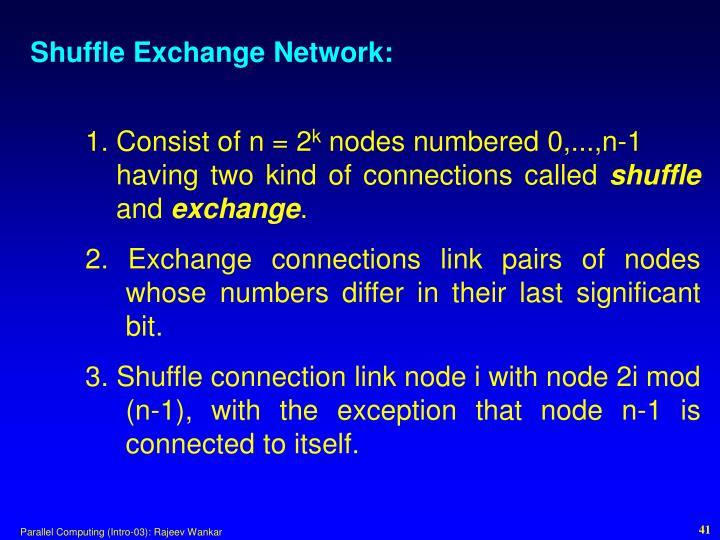 Shuffle Exchange Network: