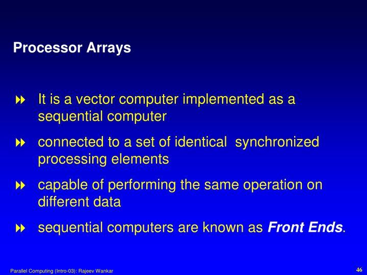 Processor Arrays