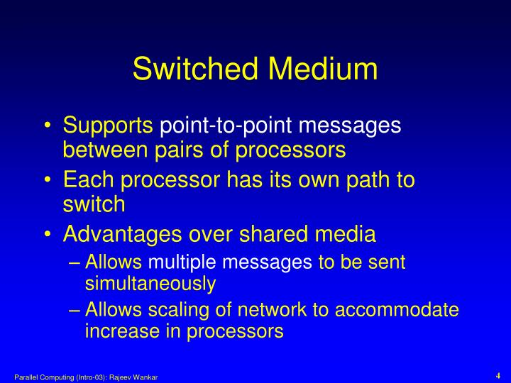 Switched Medium