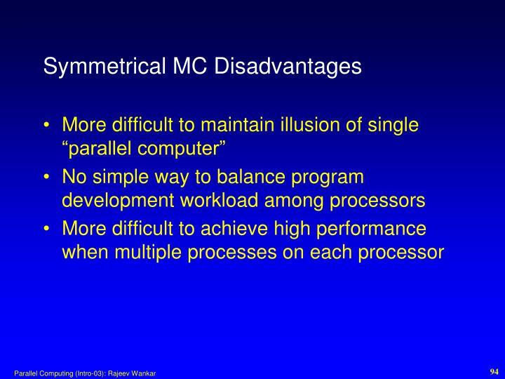 Symmetrical MC Disadvantages