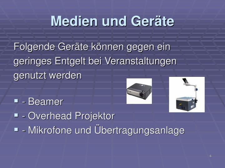 Medien und Geräte