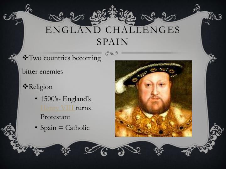 England Challenges Spain