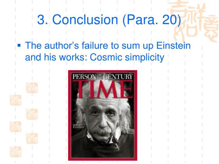 3. Conclusion (Para. 20)