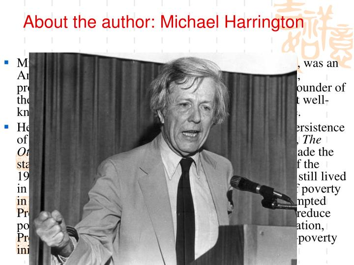 About the author: Michael Harrington