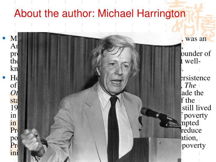 About the author: Michael Harrington