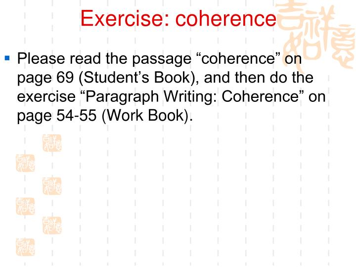Exercise: coherence