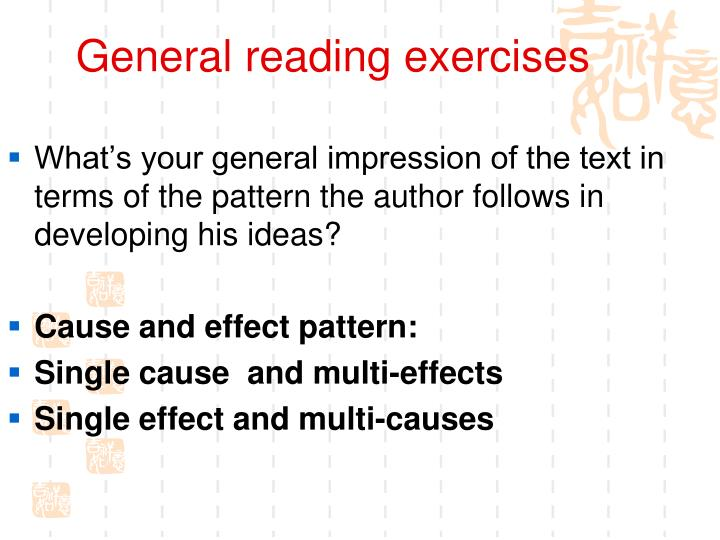 General reading exercises