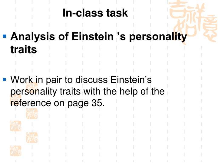 In-class task