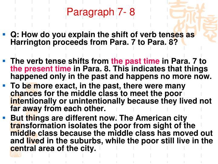 Paragraph 7- 8