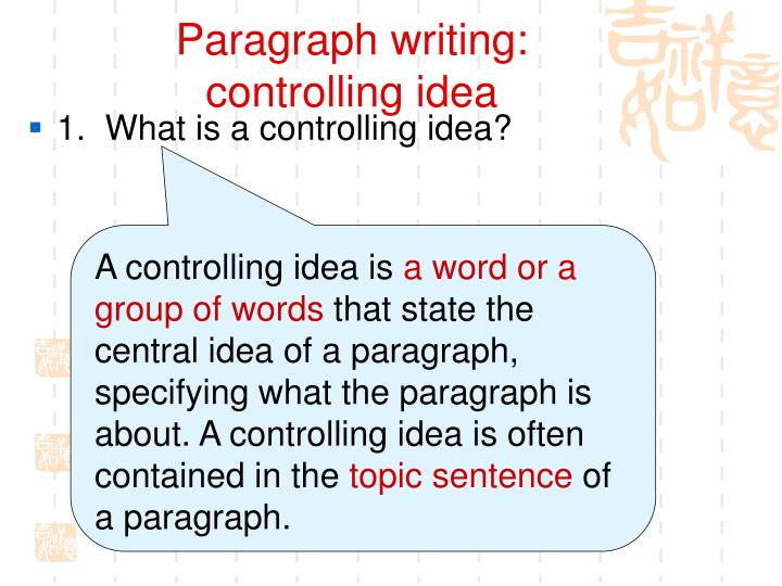 Paragraph writing: