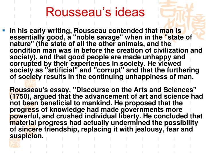 Rousseau's ideas