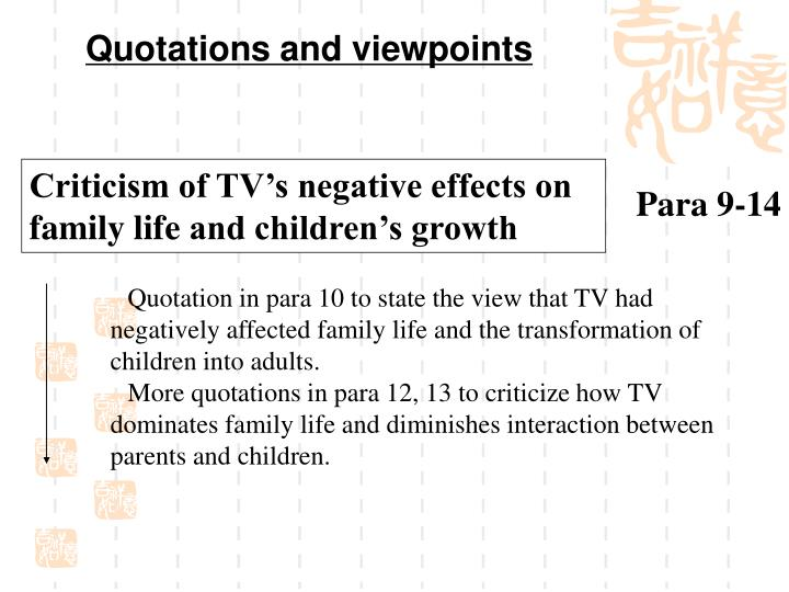 Quotations and viewpoints