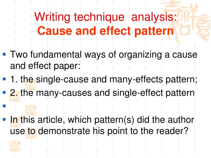 Writing technique  analysis: