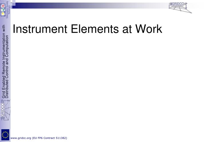 Instrument Elements at Work