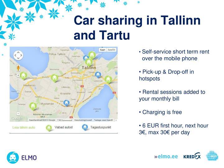 Car sharing in Tallinn and Tartu