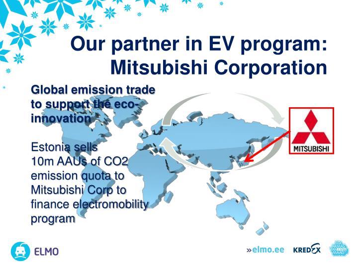 Our partner in EV program: